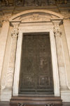 Vatican City, Rome - entrance to Saint Peters Basilica - bronze door by Filarete / Antonio Averulino - narthex - photo by I.Middleton