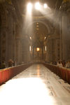 Vatican City, Rome - inside Saint Peters Basilica - light enters the nave - photo by I.Middleton