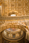 Vatican City, Rome - inside Saint Peters Basilica - ceiling of the nave and a side chapel - photo by I.Middleton
