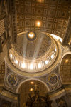 Vatican City, Rome - inside Saint Peters Basilica - rays of light enter the dome - photo by I.Middleton