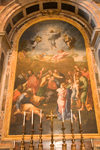 Vatican City, Rome - painting - iterior of Saint Peter's Basilica - photo by I.Middleton
