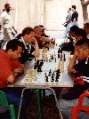 Venezuela - Caracas: playing chess on Sabana Grande (photo by M.Torres)