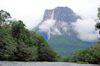 172 Venezuela - Bolivar - Canaima National Park - Salto Angel seen from rio Churun - Angel Falls - photo by A. Ferrari