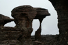 25 Venezuela - Bolivar - Canaima NP - Amazing rock formations in the fog, at the top of Roraima - photo by A. Ferrari