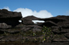 37 Venezuela - Bolivar - Canaima NP - Clouds forming behind strangely shaped rocks at the top of Roraima - photo by A. Ferrari