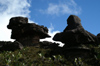 87 Venezuela - Bolivar - Canaima NP - Two strange rocks at the top of Roraima - photo by A. Ferrari