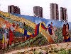 Venezuela - Barquisimeto (Lara) / BRM: mural - the revolution in Lara (photo by M.Torres)