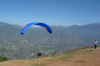 95 Venezuela - Merida - paragliding - just after take-off - photo by A. Ferrari
