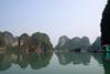 Halong Bay - Vietnam: floating village and limestone karsts - photo by Tran Thai
