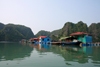 Halong Bay - Vietnam: floating village - fishing boat - photo by Tran Thai
