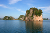 Halong Bay - Vietnam: monolithic limestone island - photo by Tran Thai