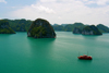 Halong Bay - Vietnam: islands and tour boat - photo by Tran Thai