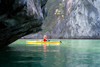 Halong Bay - Vietnam: woman kayaking - UNESCO World Heritage site - photo by Tran Thai
