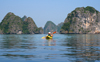 Halong Bay - Vietnam: kayaking in Halong bay - photo by Tran Thai