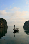 Halong Bay - Vietnam: small fishing boat - UNESCO World Heritage site - photo by Tran Thai