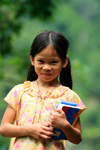 Ba Be National Park - vietnam: school girl with her books - photo by Tran Thai
