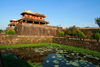 Hue - Vietnam: Imperial Citadel - Ngo Mon, the 'noon' gate and the moat - reflection - photo by Tran Thai