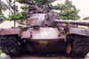 Vietnam - Hue / HUI: souvenir of an american defeat - M48 tank - photo by N.Cabana