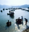 Vietnam - Labour and leisure - fishermen and their children (photo by Joe Filshie)