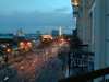 Ho Chi Minh city / Saigon: view from a balcony - South-Ton Duc Thang Avenue (photo by Robert Ziff)