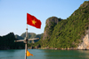 Halong Bay - Vietnam: Vietnamese Flag - photo by Tran Thai