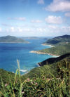 British Virgin Islands - Tortola: Myall Point - overlooking Rouge Bay Point, Guana island and Great Camanoe (photo by M.Torres)
