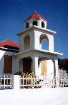 British Virgin Islands - Tortola: Long Look - simplicity - church - campanille (photo by M.Torres)