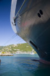 Tortola, BVI: Road Town - Holland America ms Veendam cruise ship docked (photo by David Smith)