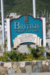 Tortola, BVI: Road Town - Welcome sign (photo by David Smith)