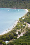 US Virgin Islands - St. Thomas - Magens Bay: beach from above (photo by David Smith)