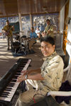USVI - St. Thomas: cruise ship band - keyboard player (photo by David Smith)