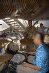 USVI - St. Thomas: cruise ship band - drummer (photo by David Smith)