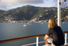 St. Thomas, US Virgin Islands: Charlotte Amalie from a cruise ship - lone tourist (photo by David Smith)