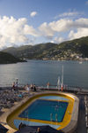 USVI - St. Thomas: Charlotte Amalie from a cruise ship - pool (photo by David Smith)
