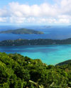 USVI - St. Thomas - atop a mountain - green and blue - photo by G.Friedman