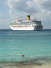 USVI - St. Thomas - Italian cruise liner Costa Magica - it has a guest capacity of 3,700 people - photo by G.Friedman