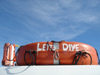 USVI - St. Thomas - life preserver atop a boat which took divers to explore boat wreckages - photo by G.Friedman