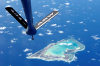 Wake island / AWK: the atoll from the air - boom from a KC-135 Stratotanker Air Refueling aircraft - photo by USAF / Tech. Sgt. Shane A. Cuomo