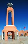 Laâyoune / El Aaiun, Saguia el-Hamra Western Sahara: tower at Place du Mechouar - Mechouar is a place for pledging allegiance to a sovereign, so the square is symbolic of the wish for Sahrawi submission - photo by M.Torres