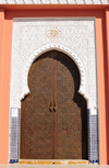 Laâyoune / El Aaiun, Saguia el-Hamra, Western Sahara: Moulay Abdel Aziz Great Mosque - ornamented gate - photo by M.Torres