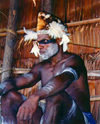 West Paupua - Syuru village - near Agats: Asmat man (photo by G.Frysinger)