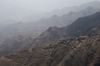 Central mountains, Hajjah governorate, Yemen: mountain village, road switchbacks and terracing - photo by J.Pemberton