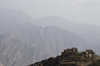 Hajjah governorate, Yemen: mountain village seen from Hajjah citadel - photo by J.Pemberton