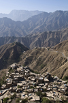 Hajjah, Yemen: mountains and part of the town - photo by J.Pemberton