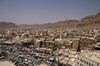 Sayun / Seiyun / Say'un, Hadhramaut Governorate, Yemen: view over the town - capital of the sultanate of Kathiri till 1967, Aden Protectorate - photo by J.Pemberton