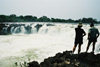 Victoria Falls / Mosi-oa-Tunya, Zambia: spectators looking at the falls - photo by C.Engelbrecht