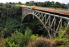 Victoria Falls, Zambia: international bridge spanning the Zambezi river - steel truss - photo by M.Torres