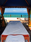 Stone Town, Zanzibar, Tanzania: massage tent by the ocean - Zanzibar Serena Inn - Shangani - photo by M.Torres
