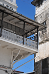 Stone Town, Zanzibar, Tanzania: balcony of the People's Bank - Soko Muhogo area - photo by M.Torres