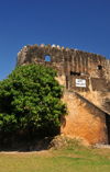 Stone Town, Zanzibar, Tanzania: Old fort - tower and stairs - Arab-Portuguese fort - Ngome Kongwe - photo by M.Torres